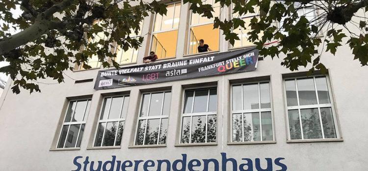 """Aktion """"Frankfurt stellt sich QUEER!"""" zu den hessischen Landtagswahlen 2018"""