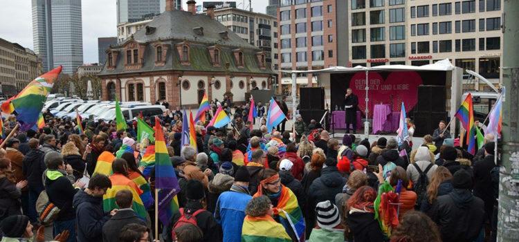 20. Januar 2018: Demo der Vielfalt und Liebe Frankfurt