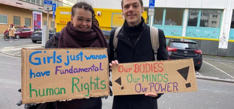 8. März 2020: Frauen* und Queers rufen zum Frauen*Streik in Frankfurt am Main auf