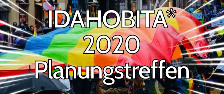 IDAHOBITA* 2020 in Frankfurt am Main – Eure Ideen sind gefragt!